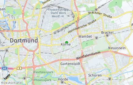 Stadtplan Dortmund OT Körne