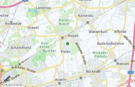 Stadtplan Dortmund OT Kurl