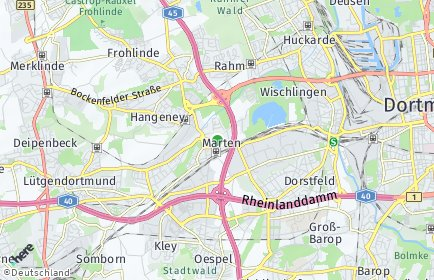 Stadtplan Dortmund OT Marten