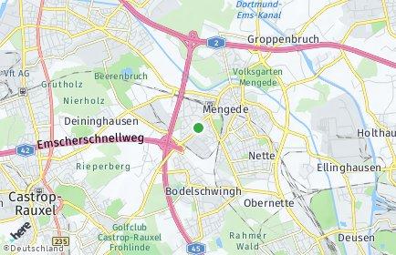 Stadtplan Dortmund OT Oestrich