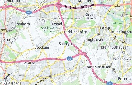 Stadtplan Dortmund OT Salingen