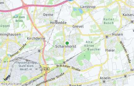 Stadtplan Dortmund OT Scharnhorst