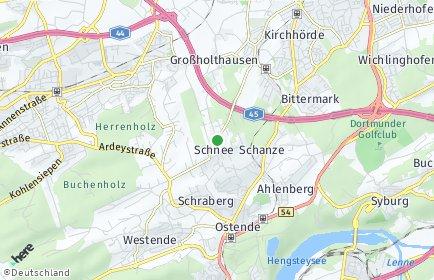 Stadtplan Dortmund OT Schnee