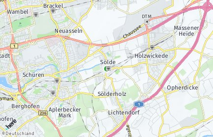 Stadtplan Dortmund OT Sölde