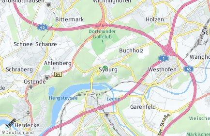 Stadtplan Dortmund OT Syburg