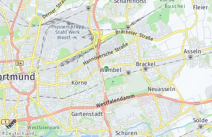 Stadtplan Dortmund OT Wambel