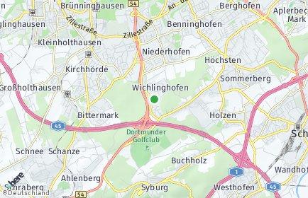 Stadtplan Dortmund OT Wichlinghofen