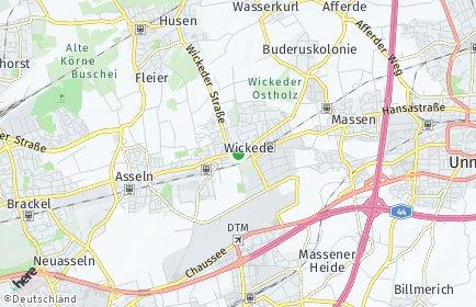 Stadtplan Dortmund OT Wickede