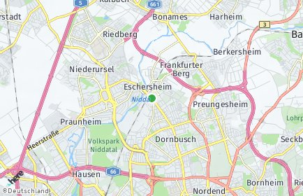 Stadtplan Frankfurt am Main OT Eschersheim