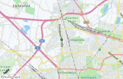 Stadtplan München OT Allach-Untermenzing
