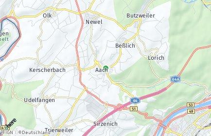 Stadtplan Aach bei Trier