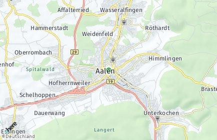 Stadtplan Aalen