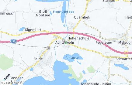 Stadtplan Achterwehr