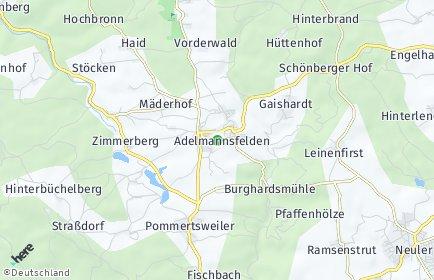 Stadtplan Adelmannsfelden