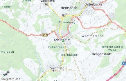 Stadtplan Adelsheim
