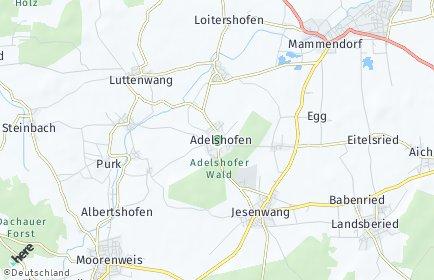 Stadtplan Adelshofen (Oberbayern)