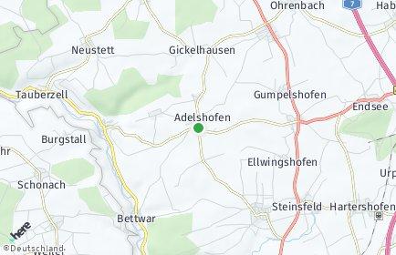 Stadtplan Adelshofen (Mittelfranken)