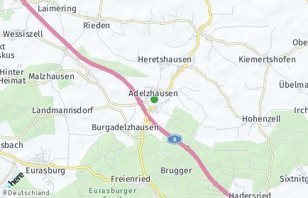 Stadtplan Adelzhausen