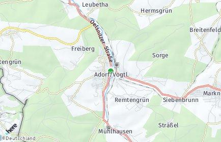 Stadtplan Adorf (Vogtland)