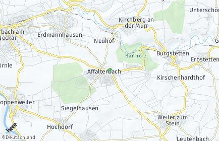 Stadtplan Affalterbach