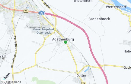 Stadtplan Agathenburg