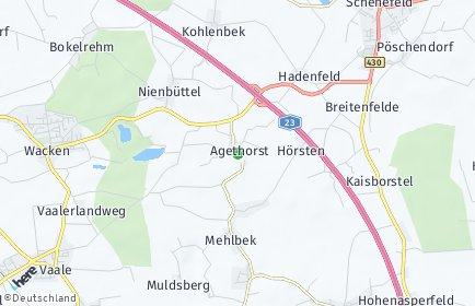 Stadtplan Agethorst