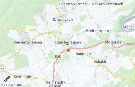 Stadtplan Aglasterhausen