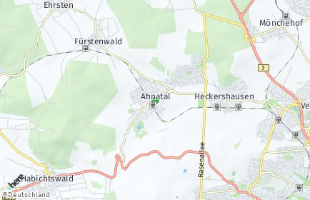 Stadtplan Ahnatal