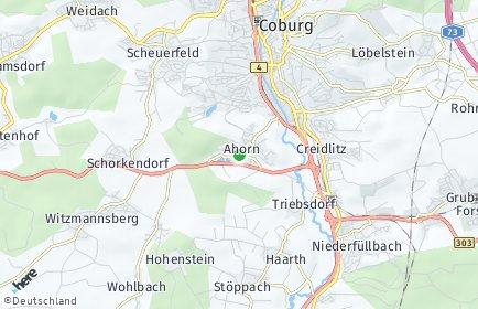 Stadtplan Ahorn (Kreis Coburg)