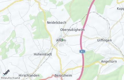 Stadtplan Ahorn (Baden)