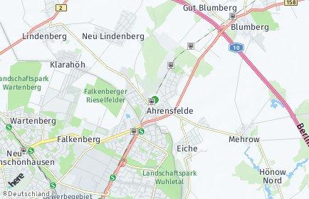Stadtplan Ahrensfelde