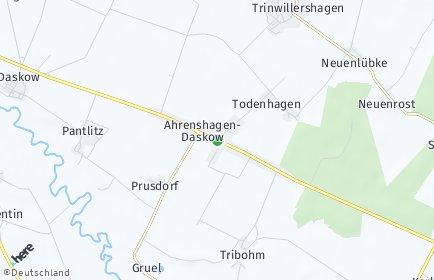 Stadtplan Ahrenshagen-Daskow