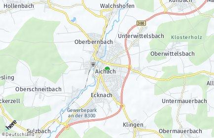 Stadtplan Aichach