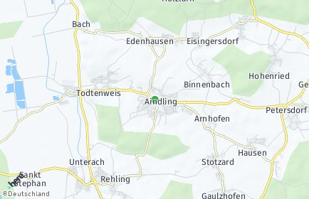 Stadtplan Aindling OT Eisingersdorf