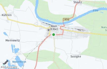 Stadtplan Aken (Elbe)