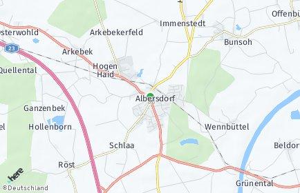 Stadtplan Albersdorf (Holstein)