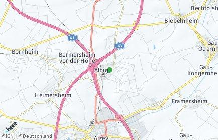 Stadtplan Albig