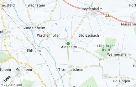Stadtplan Alesheim