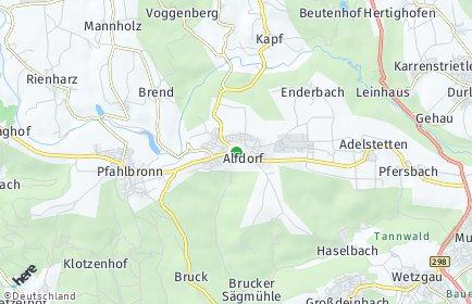 Stadtplan Alfdorf