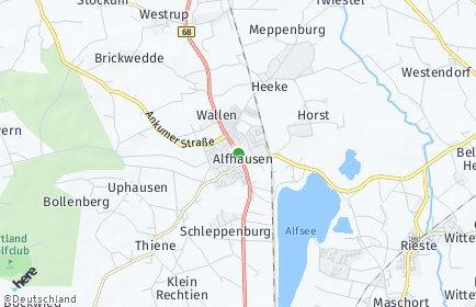 Stadtplan Alfhausen