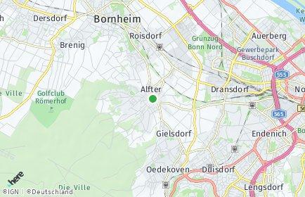 Stadtplan Alfter