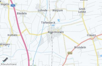Stadtplan Algermissen