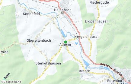 Stadtplan Alheim