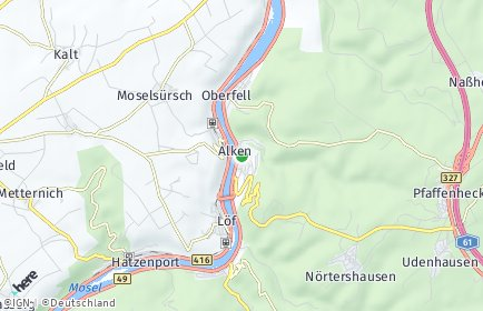 Stadtplan Alken