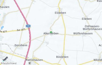 Stadtplan Alkersleben