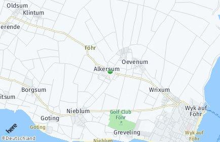 Stadtplan Alkersum
