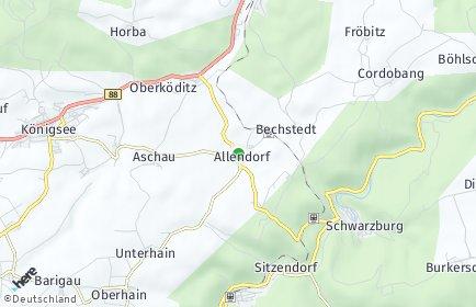 Stadtplan Allendorf (Thüringen)