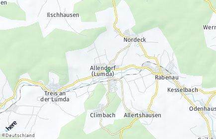 Stadtplan Allendorf (Lumda)