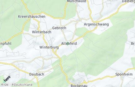 Stadtplan Allenfeld
