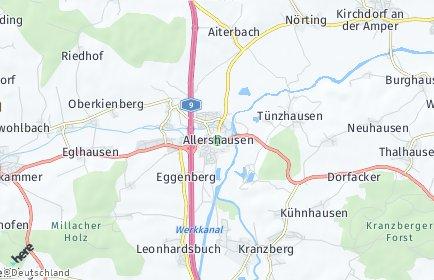 Stadtplan Allershausen